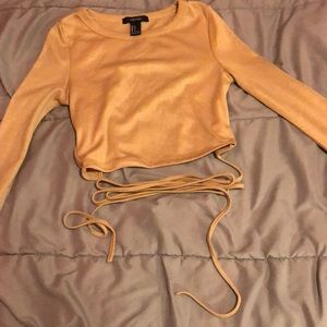 3 FOR 24 (O3O) Forever 21 self wrap open back top